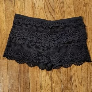Pins & Needles Lace Shorts